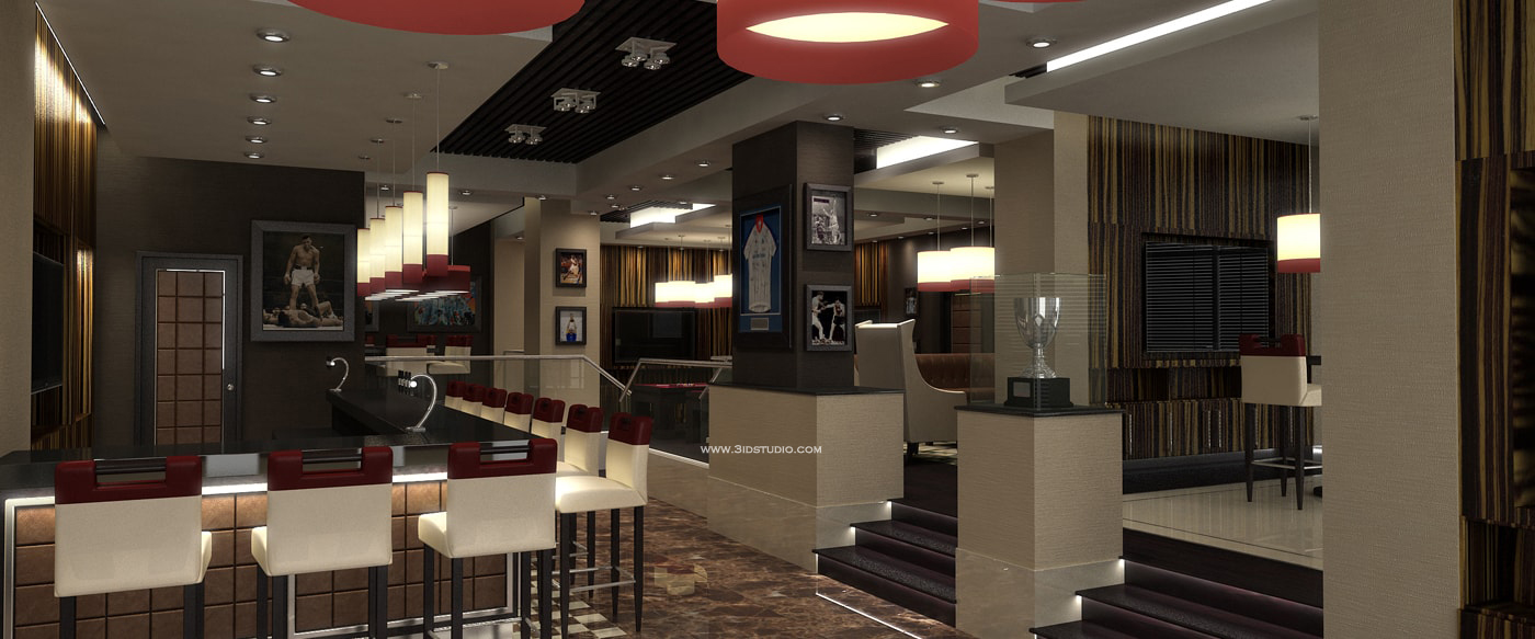 3D VISUAL OF SPORTS RESTAURANT